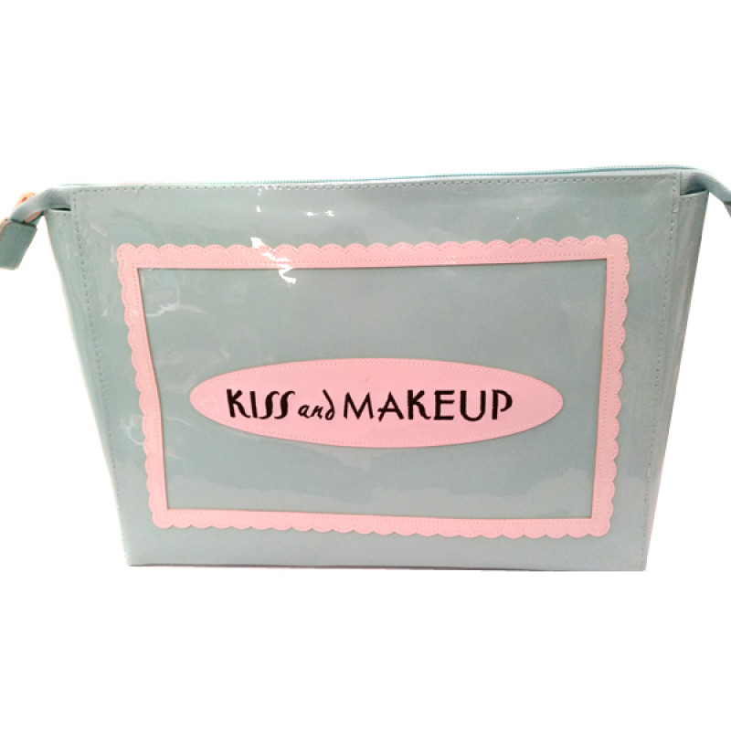 Kiss And Make Up: Kiss And Makeup Large Cosmetic Bag