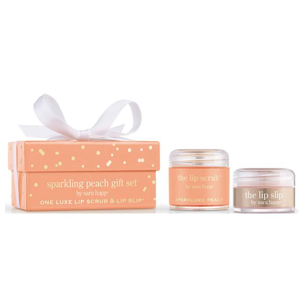 The Lip Scrup Sara Happ Sparkling Peach Gift Set